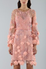 Drexcode - Cocktail dress with 3D floral embroidery - Marchesa Notte - Rent - 3