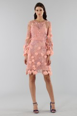 Drexcode - Cocktail dress with 3D floral embroidery - Marchesa Notte - Sale - 5