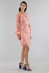 Drexcode - Cocktail dress with 3D floral embroidery - Marchesa Notte - Rent - 7