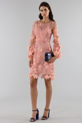 Drexcode - Cocktail dress with 3D floral embroidery - Marchesa Notte - Sale - 4