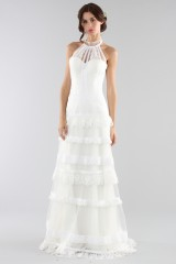 Drexcode - Lace wedding dress with american collar - Ilenia Sweet by Bellantuono - Rent - 3