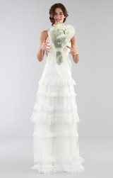 Drexcode - Lace wedding dress with american collar - Ilenia Sweet by Bellantuono - Rent - 4