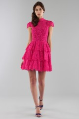 Drexcode - Fuchsia lace dress with skir - Alice+Olivia - Sale - 5