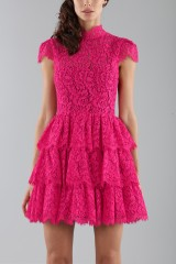 Drexcode - Fuchsia lace dress with skir - Alice+Olivia - Sale - 4