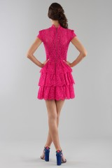 Drexcode - Fuchsia lace dress with skirt - Alice+Olivia - Rent - 7