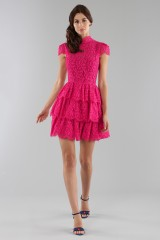 Drexcode - Fuchsia lace dress with skir - Alice+Olivia - Sale - 3