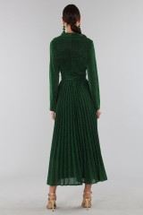 Drexcode - Green glittery long-sleeved dress - Alcoolique - Rent - 4