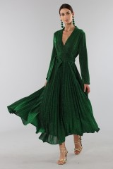 Drexcode - Green glittery long-sleeved dress - Alcoolique - Rent - 2