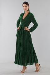 Drexcode - Green glittery long-sleeved dress - Alcoolique - Rent - 3