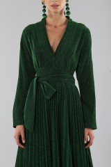Drexcode - Green glittery long-sleeved dress - Alcoolique - Rent - 5