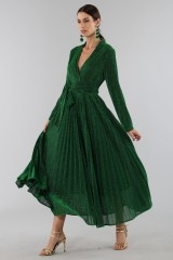 Drexcode - Green glittery long-sleeved dress - Alcoolique - Rent - 6