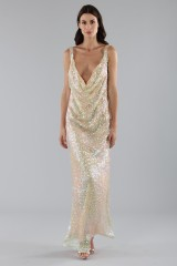 Drexcode - Dress in silver and gold sequins - Alcoolique - Sale - 5