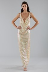 Drexcode - Dress in silver and gold sequins - Alcoolique - Sale - 1