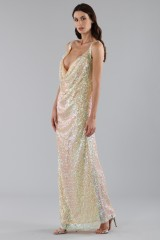 Drexcode - Dress in silver and gold sequins - Alcoolique - Sale - 3