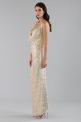 Drexcode - Dress in silver and gold sequins - Alcoolique - Sale - 4