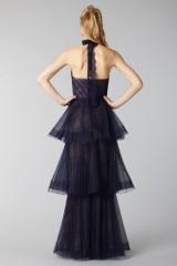 Drexcode - Blue lace dress with volants - Marchesa Notte - Rent - 5