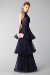 Drexcode - Blue lace dress with volants - Marchesa Notte - Rent - 4