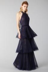 Drexcode - Blue lace dress with volants - Marchesa Notte - Rent - 3
