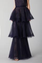 Drexcode - Blue lace dress with volants - Marchesa Notte - Rent - 6