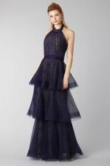 Drexcode - Blue lace dress with volants - Marchesa Notte - Rent - 2
