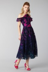 Drexcode - Longuette dress with transparent neckline - Marchesa Notte - Rent - 5