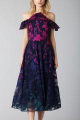 Drexcode - Longuette dress with transparent neckline - Marchesa Notte - Rent - 1