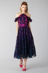 Drexcode - Longuette dress with transparent neckline - Marchesa Notte - Rent - 4