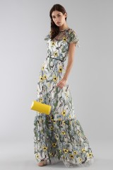 Drexcode - Long floral pattern dress  - ML - Monique Lhuillier - Rent - 5