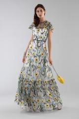 Drexcode - Long floral pattern dress  - ML - Monique Lhuillier - Rent - 7