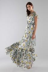 Drexcode - Long floral pattern dress  - ML - Monique Lhuillier - Rent - 8