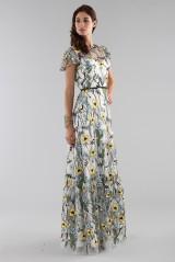 Drexcode - Long floral pattern dress  - ML - Monique Lhuillier - Rent - 6