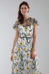 Drexcode - Long floral pattern dress  - ML - Monique Lhuillier - Rent - 2
