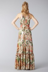 Drexcode - Long shiny dress with floral pattern - Piccione.Piccione - Rent - 1