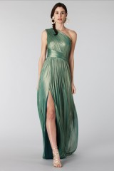 Drexcode - Glittery green single-shoulder dress - Cristallini - Rent - 1
