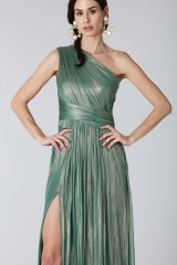 Drexcode - Glittery green single-shoulder dress - Cristallini - Rent - 7