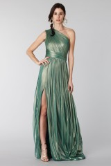 Drexcode - Glittery green single-shoulder dress  - Cristallini - Rent - 4