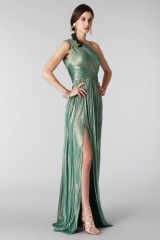 Drexcode - Glittery green single-shoulder dress - Cristallini - Rent - 6