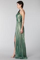 Drexcode - Glittery green single-shoulder dress - Cristallini - Rent - 5