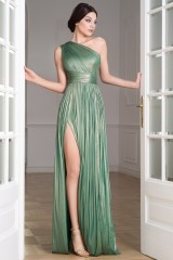 Drexcode - Glittery green single-shoulder dress - Cristallini - Rent - 8