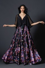 Drexcode - Black silk dress with brocade print - Tube Gallery - Rent - 10
