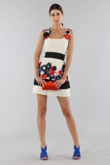 Drexcode - Embroidered dress with applied flowers - Emanuel Ungaro - Sale - 1