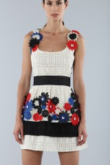 Drexcode - Embroidered dress with applied flowers - Emanuel Ungaro - Sale - 5