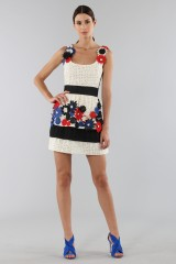 Drexcode - Embroidered dress with applied flowers - Emanuel Ungaro - Rent - 4