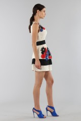 Drexcode - Embroidered dress with applied flowers - Emanuel Ungaro - Sale - 3
