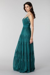 Drexcode - Green dress with lace embroidery and worked neckline - Catherine Deane - Rent - 5