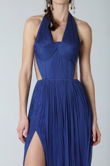 Drexcode - Purple silk dress with side slits - Cristallini - Rent - 5