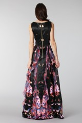 Drexcode - Black silk dress with brocade print - Tube Gallery - Rent - 2