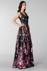 Drexcode - Black silk dress with brocade print - Tube Gallery - Rent - 5
