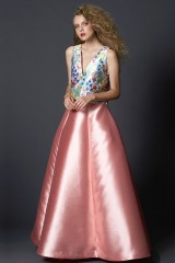 Drexcode - Complete pink skirt and floral top in silk  - Tube Gallery - Sale - 4
