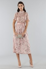 Drexcode - Top with sleeves and midi skirt  - Mother of Pearl - Sale - 6